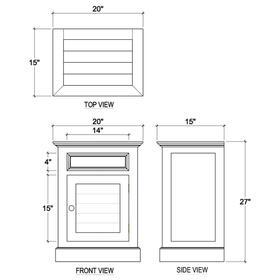 Small Shutter Nightstand Cabinet