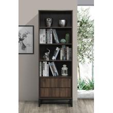 "See Details - 2005 DARK WALNUT Faux Wood Book Shelves - 69"" H"