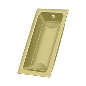 "Flush Pull, Large, 3-5/8"" x 1-3/4"" x 1/2"" - Polished Brass"