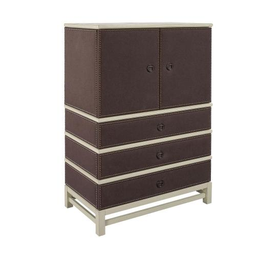 Remy Three Drawer Upholstered Chest with Remy Base