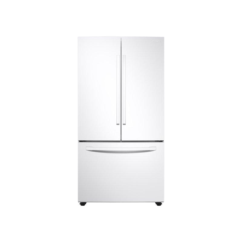28 cu. ft. Large Capacity 3-Door French Door Refrigerator with Internal Water Dispenser in White