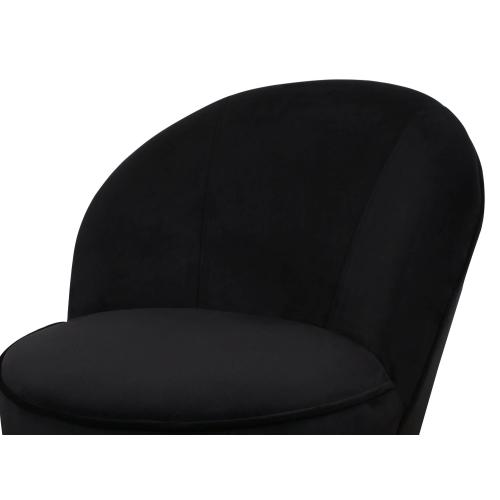 Julia Black Velvet Junior Chair