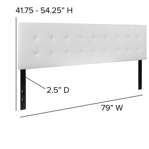 Flash Furniture - Lennox Tufted Upholstered King Size Headboard in White Vinyl