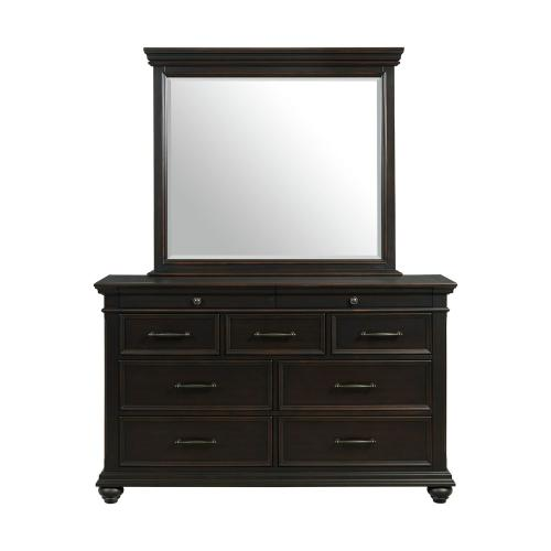 Slater Black Bedroom - Queen Storage Bed, Dresser, Mirror, Chest, and Night Stand