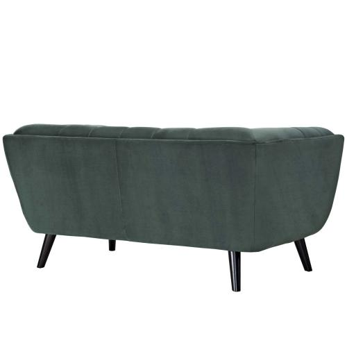 Bestow 2 Piece Performance Velvet Loveseat and Armchair Set in Green