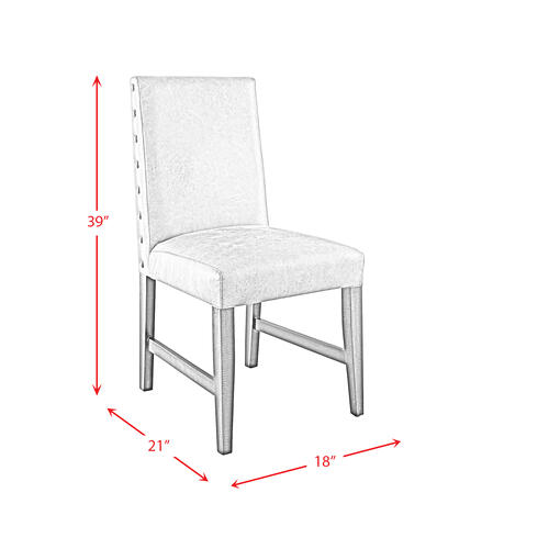 Cruz Standard Height Dining Side Chair Set in Gray