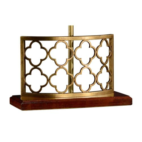 Gilded Gothic Trellis Table Lamp Base