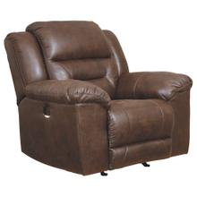 CLEARANCE Stoneland Power Recliner - Chocolate
