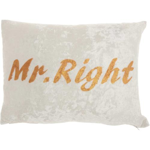 "Luminescence L4006 Ivory 12"" X 18"" Throw Pillow"