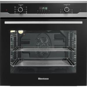 "Blomberg24"" Built in Wall Oven Single, black, full glass door moon design"