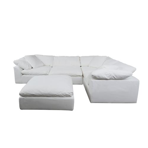 Cloud Puff Slipcovered Modular Sectional Sofa - 391081 (5 Piece)