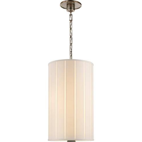 Visual Comfort BBL5033PWT-S Barbara Barry Perfect Pleat 2 Light 13 inch Pewter Finish Hanging Shade Ceiling Light