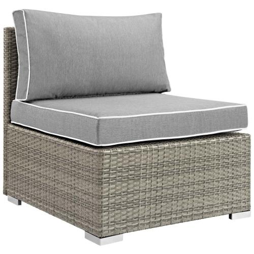 Modway - Repose 8 Piece Outdoor Patio Sectional Set in Light Gray Gray