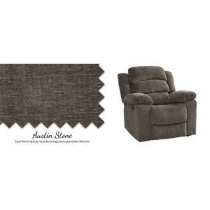 American Wholesale Furniture - Stone Power Glider Recliner w/ Headrest