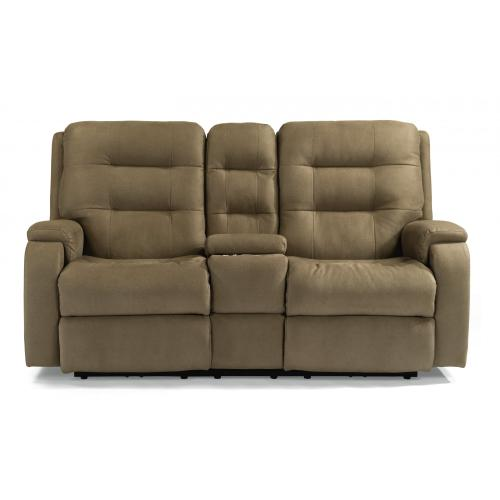 Arlo Power Reclining Loveseat with Console & Power Headrests