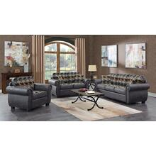 Hunter Gray Sofa, Loveseat, Chair & Recliner, U8022