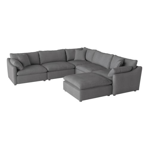 6-Piece Modular Sectional with Ottoman