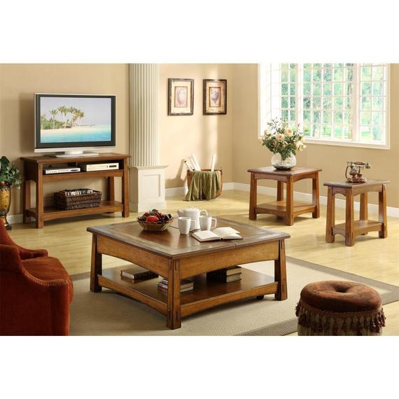 Riverside - Craftsman Home - Side Table - Americana Oak Finish