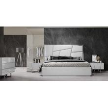 Modrest Chrysler Modern White Bonded Leather Bed