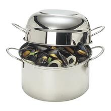 View Product - Demeyere Resto 3.2 qt, 18/10 Stainless Steel, Mussel pot, silver