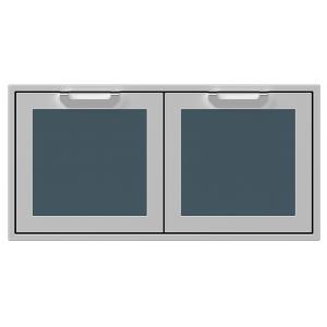 """42"""" Hestan Outdoor Double Storage Doors - AGSD Series - Pacific-fog"""