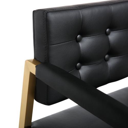 Tov Furniture - Director Black Gold Steel Counter Stool
