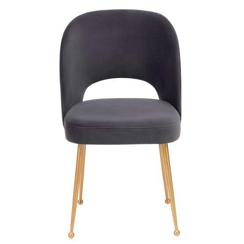 Tov Furniture - Swell Dark Grey Velvet Chair