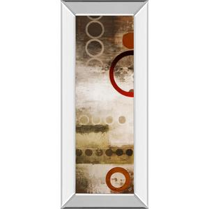"""""""Red Liberated Panel Il"""" By Micheal Marcon Mirror Framed Print Wall Art"""