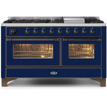 60 Inch Blue Dual Fuel Natural Gas Freestanding Range