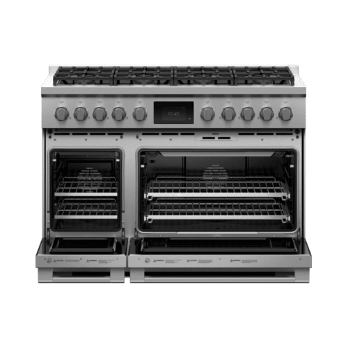 """Fisher & Paykel - Dual Fuel Range, 48"""", 8 Burners, Self-cleaning"""