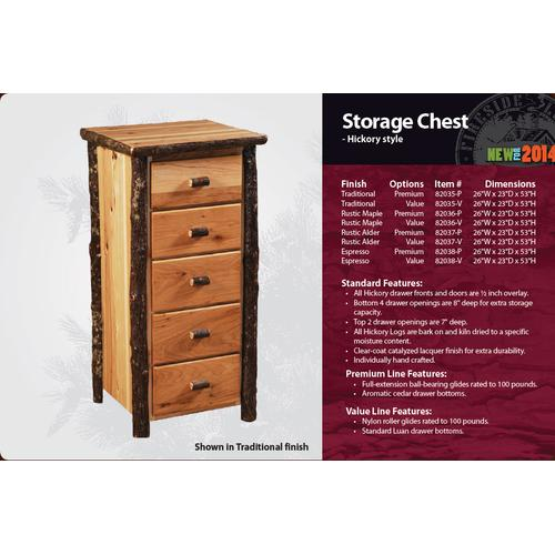 Hickory Storage Chest
