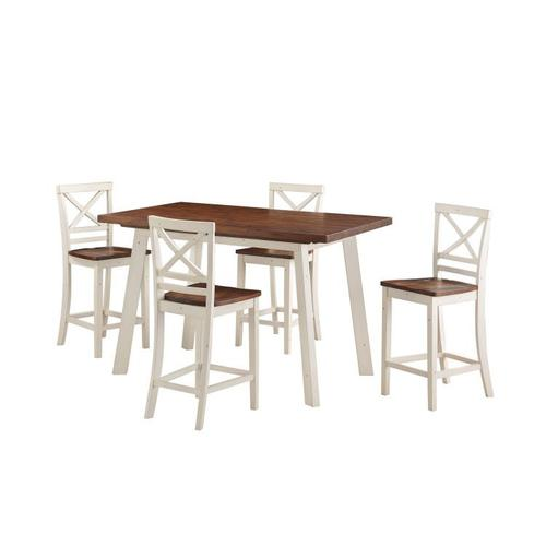 Gallery - Amelia Counter Height Dining Set with Four Chairs