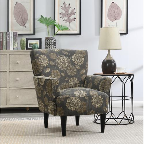 Flower Power Accent Chair, Cascade Pewter U3535-05-09