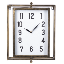 Brushed Gold Rectangle Wall Clock