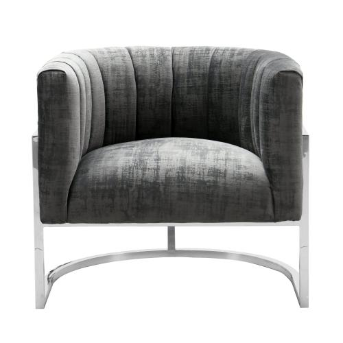Tov Furniture - Magnolia Grey Chair with Silver