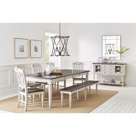 See Details - Orchard Park Table & 4 Chairs & Bench