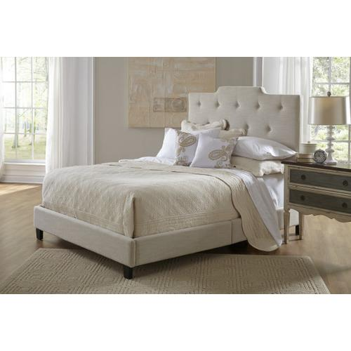 Product Image - All-in-One Upholstered Queen Bed in Linen