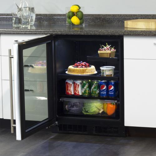 Marvel - 24-In Low Profile Built-In Beverage Refrigerator with Door Swing - Left