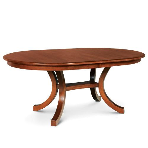 """Simply Amish - Loft II Oval Table, 42"""" x 60"""" / Solid Top"""