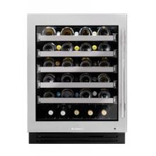 24 Inch Single Zone Stainless Glass Door Left Hinge ADA Height Undercounter Wine Cabinet