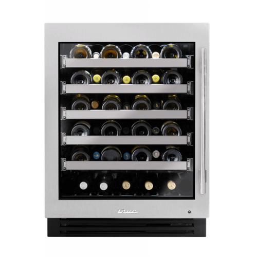 True Residential - 24 Inch Single Zone Stainless Glass Door Left Hinge ADA Height Undercounter Wine Cabinet