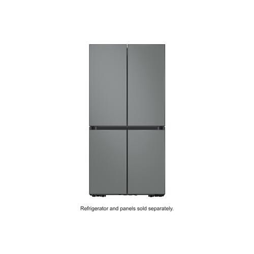 Samsung - BESPOKE 4-Door Flex™ Refrigerator Panel in Grey Glass (matte) - Bottom Panel