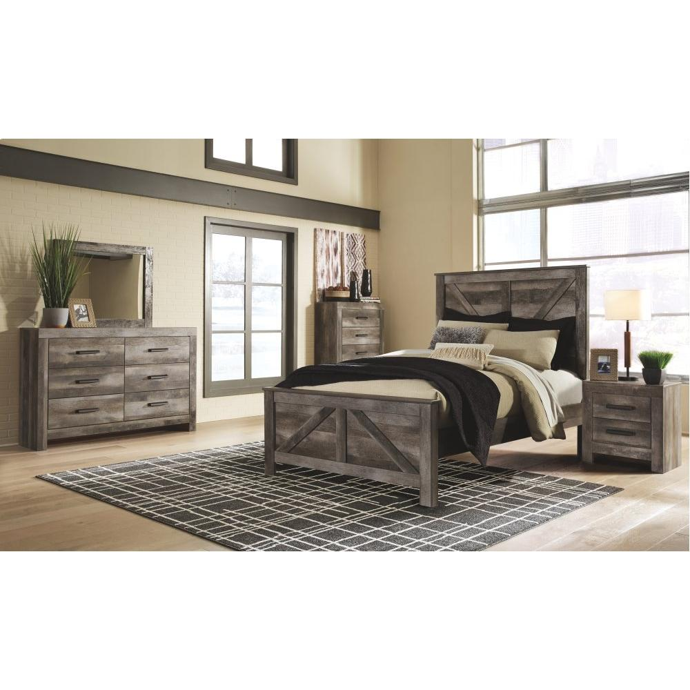 Product Image - Queen Crossbuck Panel Bed With Dresser