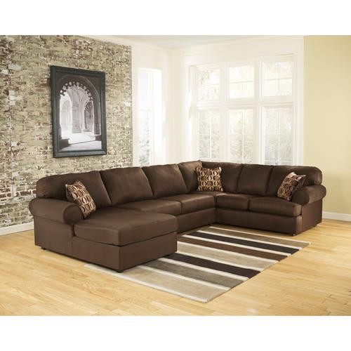 Signature Design by Ashley Cowan Sectional in Cafe Fabric