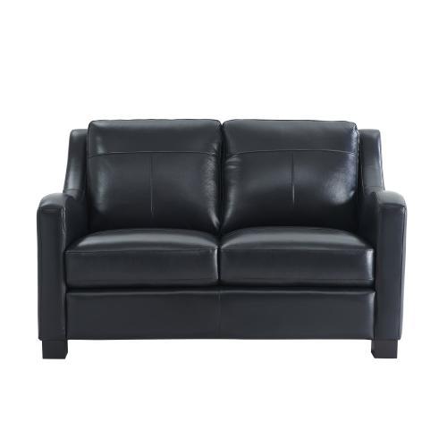 Leather Italia USA - 2052 Presley Loveseat L201k Black