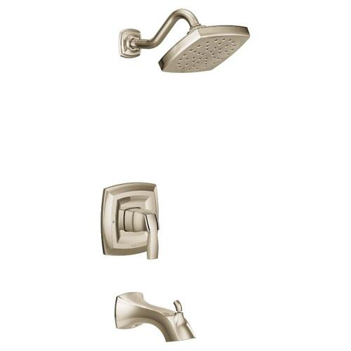 Voss polished nickel m-core 3-series tub/shower