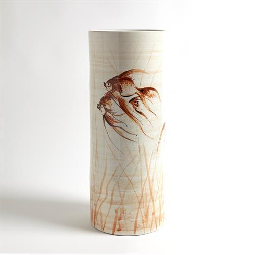 Goldfish Vase-Hand Painted-Sm