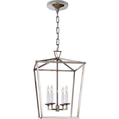 Visual Comfort CHC2164PN E. F. Chapman Darlana 4 Light 13 inch Polished Nickel Foyer Lantern Ceiling Light, E.F. Chapman, Small
