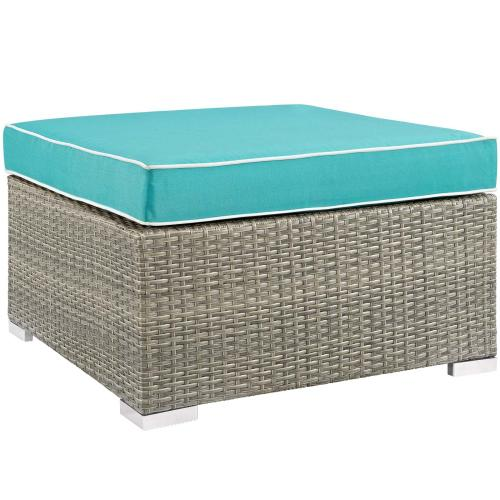 Modway - Repose 6 Piece Outdoor Patio Sectional Set in Light Gray Turquoise