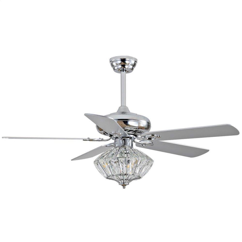 Landi Ceiling Light Fan - Silver / White Maple (reversible Option)